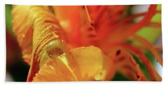 Beach Towel featuring the photograph Tiger Lily Petals by Angela Murdock