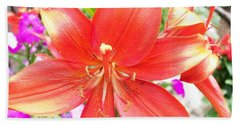 Beach Sheet featuring the photograph Tiger Lily by Sharon Duguay