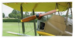 Beach Towel featuring the photograph Tiger Moth Propeller by Gary Eason