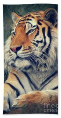 Tiger No 3 Beach Towel