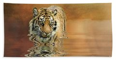 Tiger Reflections Beach Towel
