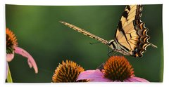 Tiger Swallowtail Beach Towel by JD Grimes