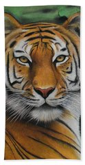 Tiger - The Heart Of India Beach Sheet