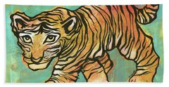 Tiger Trance Beach Towel