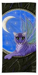 Tigerpixie Purple Tiger Fairy Beach Towel