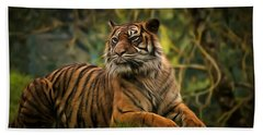 Beach Sheet featuring the photograph Tigers Beauty by Scott Carruthers
