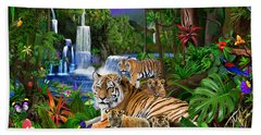 Tigers Of The Forest Beach Towel