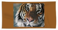 Beach Towel featuring the pastel Tigger by Barbara Keith