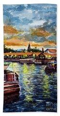 Beach Towel featuring the painting Tigre Delta 001 by Bernardo Galmarini