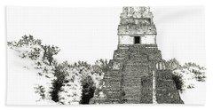 Tikal Temple I Beach Sheet