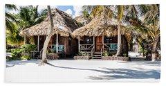 Tiki Huts Beach Towel