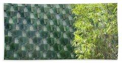 Tile Wall Of The Ringling Museum Asian Art Center Beach Towel