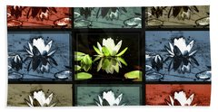 Tiled Water Lillies Beach Towel