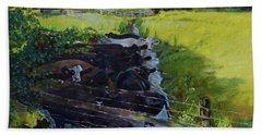 Beach Towel featuring the painting Till The Cows Come Home by Jan Dappen