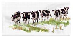 Till The Cows... Beach Towel
