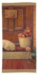 Beach Towel featuring the painting Till The Kids Come Home by Nancy Lee Moran