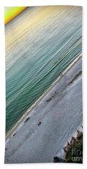 Tilted Rule Of Thirds Beach Sunset Beach Towel by Walt Foegelle