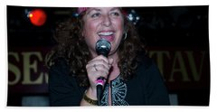 Tima Sings Hungry Heart Beach Sheet by Jeff Ross