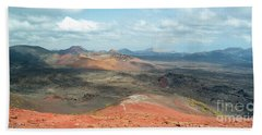 Timanfaya Panorama Beach Sheet by Delphimages Photo Creations