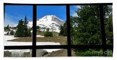 Timberline Lodge View Beach Towel