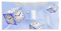 Time Cubed Square Beach Towel