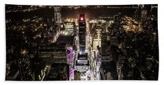 Time Square From Above Beach Towel