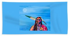 Beyond Space And Time Beach Towel by Brenda Pressnall