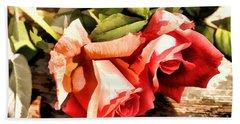 Timeless Tropicana Roses Beach Towel