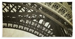 Beach Towel featuring the photograph Timeless - Vintage Paris Eiffel Tower Photography by Melanie Alexandra Price