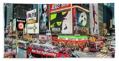 Times Square II Special Edition Beach Towel