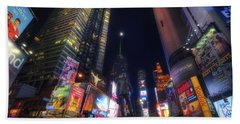 Times Square Moonlight Beach Towel