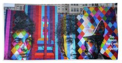 Times They Are A Changing Giant Bob Dylan Mural Minneapolis Fine Art Beach Sheet by Wayne Moran