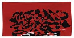 Beach Sheet featuring the digital art Timpani In Orange Red by Jazz DaBri