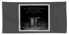 Tin Cup Chalice Lyrics With Wavy Border Beach Sheet by John Stephens