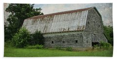 Tin Roof Rusted Beach Sheet by Victor Montgomery