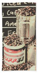 Tin Signs And Coffee Shops Beach Towel