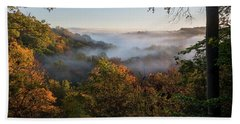 Beach Towel featuring the photograph Tinkers Creek Gorge Overlook by Dale Kincaid
