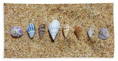 Tiny Seashells On The Sand Beach Towel