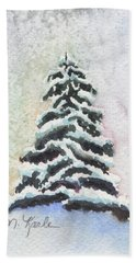 Tiny Snowy Tree Beach Towel