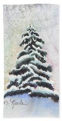Tiny Snowy Tree Beach Towel