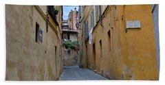 Tiny Street In Siena Beach Towel