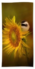 Tiny Surprise Bird Art Beach Towel