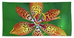 Tiny Tropical Lily Beach Towel