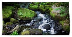Tiny Waterfall - Ellsworth Maine Beach Towel