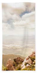 Tip Of Mt Zeehan Tasmania  Beach Towel