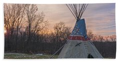 Tipi Sunset Beach Towel by Angelo Marcialis