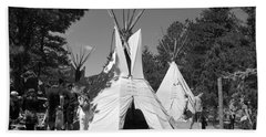 Tipis In Black Hills Beach Towel by Matt Harang