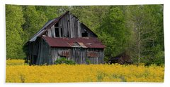 Beach Sheet featuring the photograph Tired Indiana Barn - D010095 by Daniel Dempster