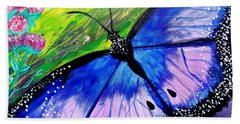 Titanium Butterfly Beach Towel