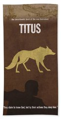Titus Books Of The Bible Series New Testament Minimal Poster Art Number 17 Beach Towel